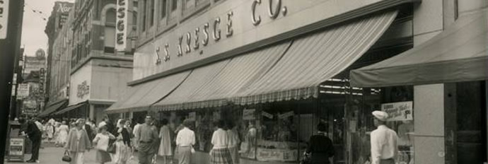 Old photograph of S. S. KRESGE CO building